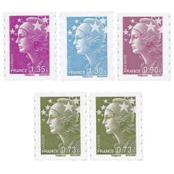 5 timbres de 2009 Marianne...