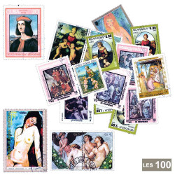 100 timbres Peintres italiens