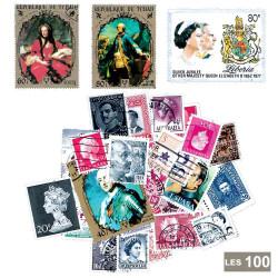 100 timbres Reines et rois