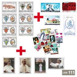 Lot de 111 timbres Vatican