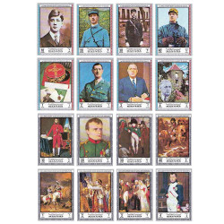 16 timbres Grands hommes...