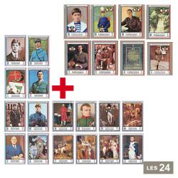 Lot de 24 timbres Grands...