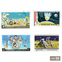 50 timbres Cosmos Lune