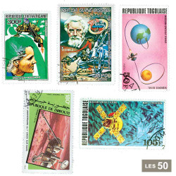 50 timbres Cosmos Mars