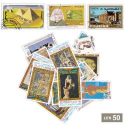 50 timbres Art égyptien