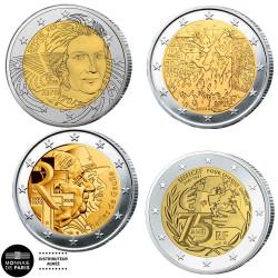 Lot 4 x 2 Euro France BE...