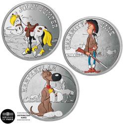 Lot 3 mini-médailles Lucky...