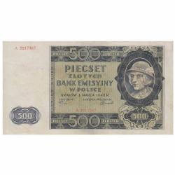 Billet 500 Zlotys 1940