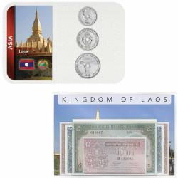 Lot 2 monnaies Laos