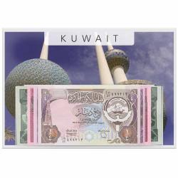 Lot 6 billets Koweit 1980-1991