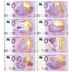 Lot 8 Billets Souvenirs 0 Euro