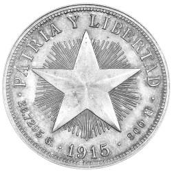 1 Peso Argent Cuba...