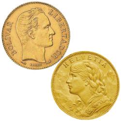 Lot 2 monnaies en Or 1897-1949