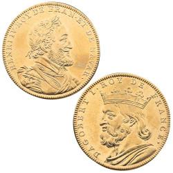 Lot 2 médailles Roi de...
