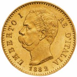 20 Lires Or Umberto 1er Italie