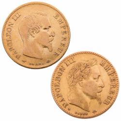 Lot 2 x 10 Francs Or...