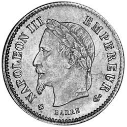 20 centimes Argent Napoléon...