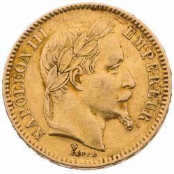 20 FRANCS OR - NAPOLEON III...