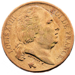 20 Francs Or Louis XVIII...