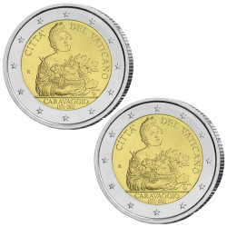 Lot 2 x 2 Euro Vatican BE...