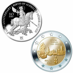Lot Monnaies Malte 2021-2020