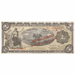 Billet 1 Peso Mexique 1914