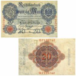 2 Billets Allemagne 1914