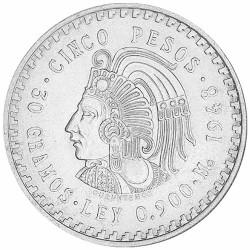 5 Pesos Argent Mexique...