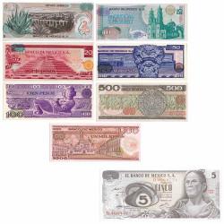 Lot 8 billets Mexique