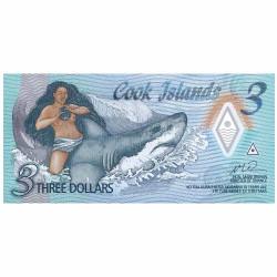 3 Dollars Îles Cook 2021