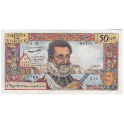 Billet 50 NF Henri IV...