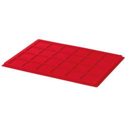Plateau en velours rouge 24 mm