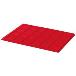 Plateau en velours rouge 34 mm