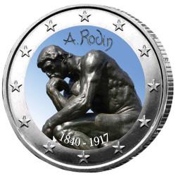 2 Euro Rodin colorisée