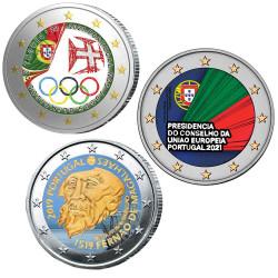 Lot 3 x 2 Euro Portugal...