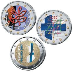 Lot 3 x 2 Euro Finlande...