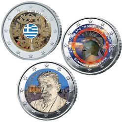 Lot 3 x 2 Euro Grèce...