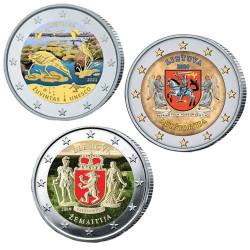 Lot 3 x 2 Euro Lituanie...