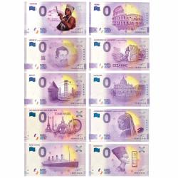 Lot 10 Billets Souvenir 0 Euro