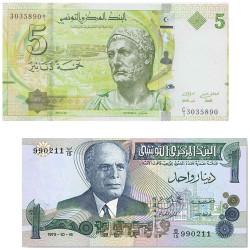 Lot 2 billets Tunisie