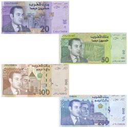 4 Billets Maroc 2002-2005