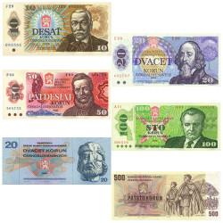 Lot 6 Billets Tchécoslovaquie