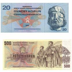 2 Billets Tchécoslovaquie...