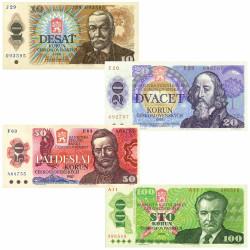 4 Billets Tchécoslovaquie...