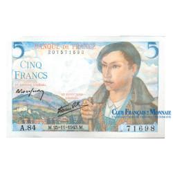 Billet 5 Francs Berger
