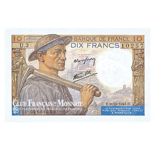 Billet 10 Francs Mineur