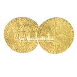 cu d'Or Louis XI (1423 - 1483) au soleil