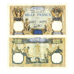 Billet de 1 000 Francs Mercure