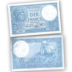 BILLET 10 Francs Minerve 1941
