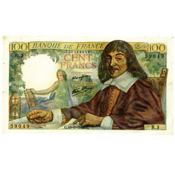 France - Billet 100F Descartes SPL